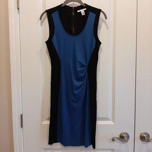 Sleeveless Dress Sz 6 Blue Black Color Block